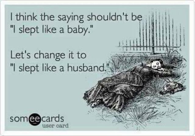 Because babies wake up . . .